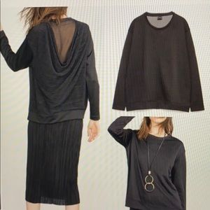 Zara Collection Draped-Back Sweatshirt
